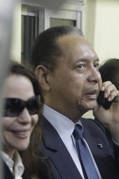 Jean-Claude Duvalier et sa femme