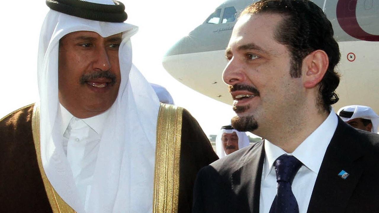 Le premier ministre Saad Hariri et le premier ministre du Qatar, bin Jasem bin Jabr al-Thani