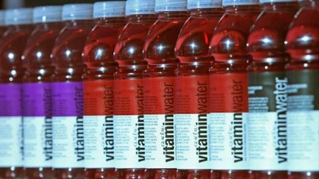 Les produits de Vitaminwater étaient bien en vue au Festival de film de Toronto, en septembre 2010.