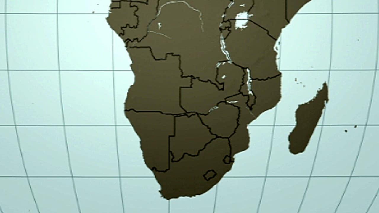 Carte de l'Afrique australe