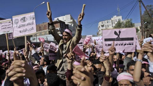 Manifestations à Sanaa, Yémen, 27 janvier 2011