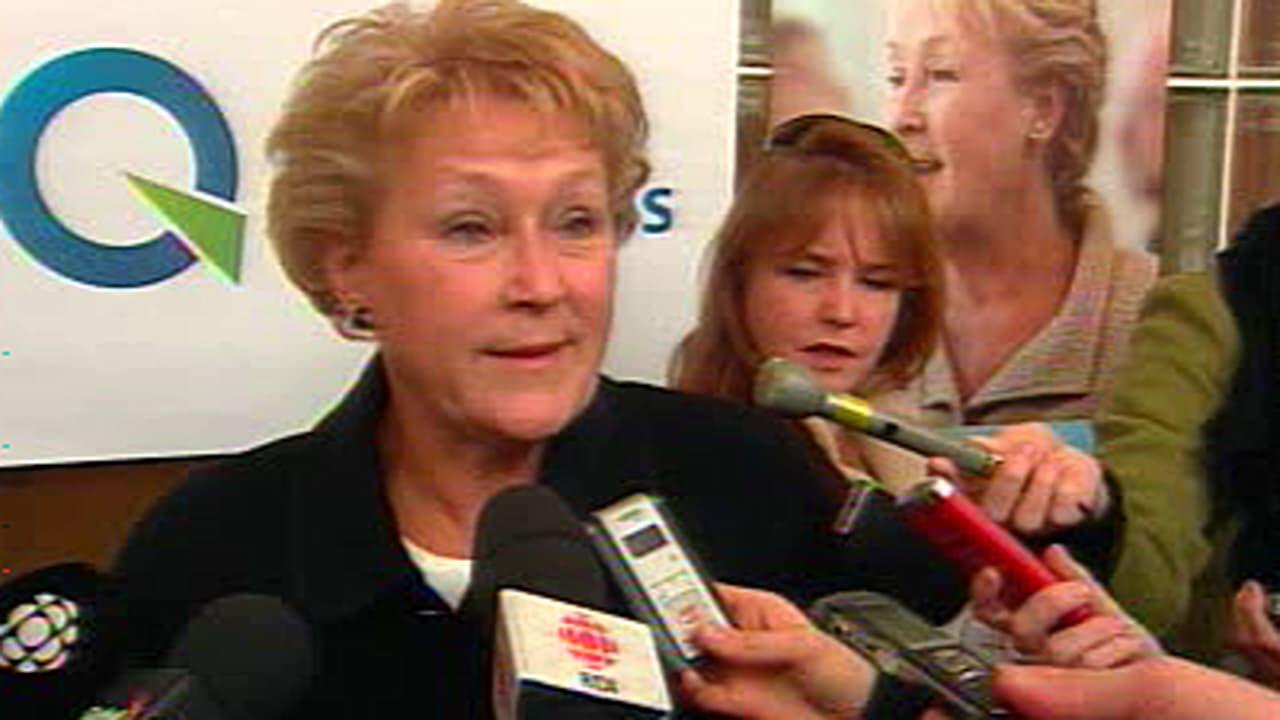 Pauline Marois au colloque du Parti québécois à Montréal, le 30 janvier 2011