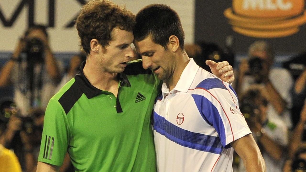 Andy Murray et Novak Djokovic