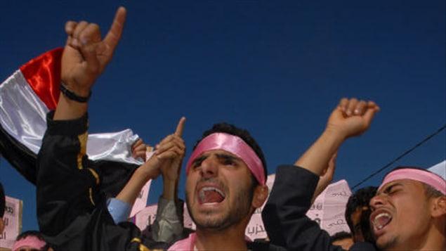 Manifestation à Sanaa le 27 janvier