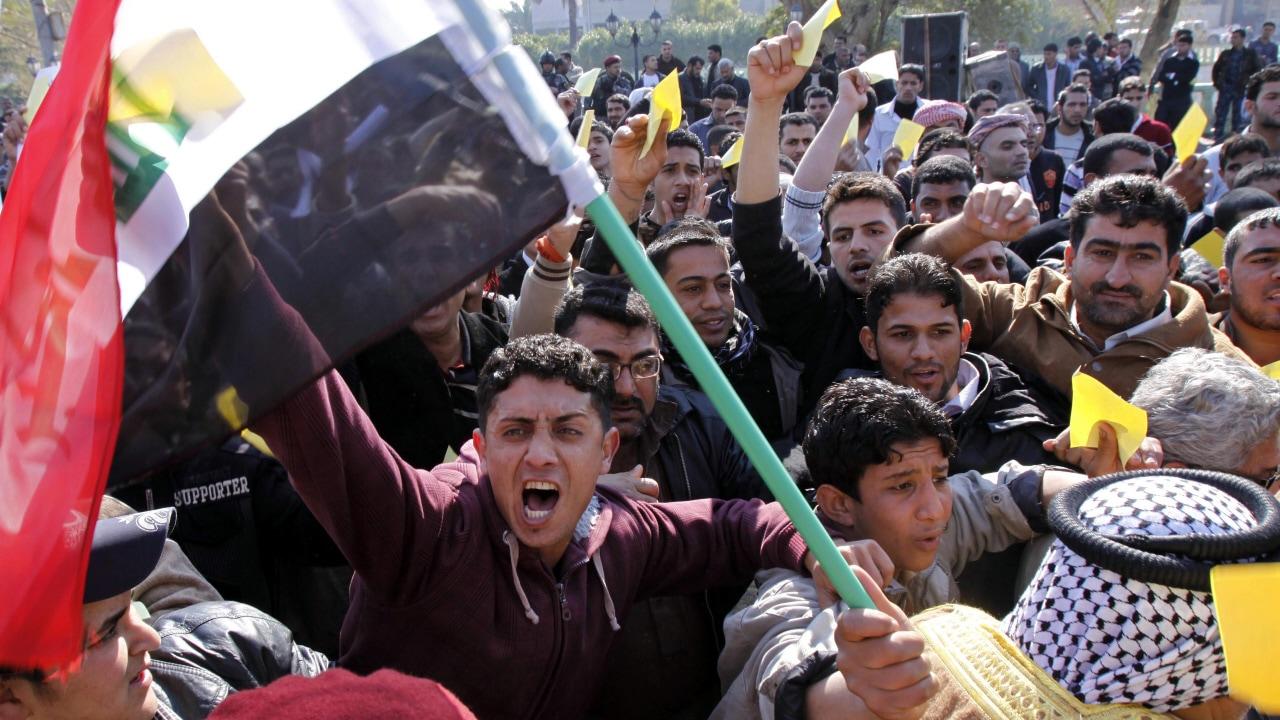 Manifestation à Bassorah, dans le sud de l'Irak, le 6 février 2011