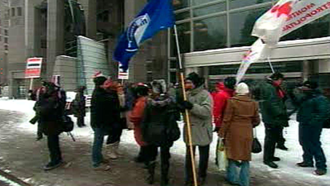 Manifestation à Montréal pour la démocratie en Égypte