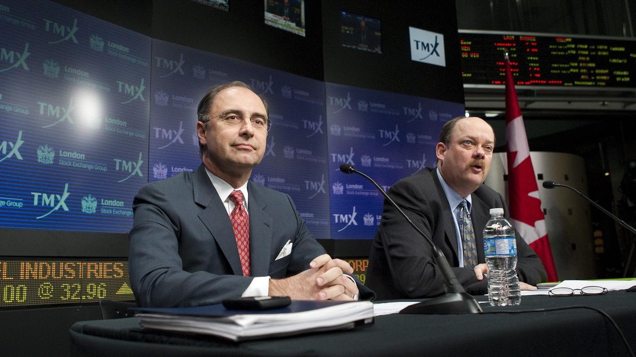 Les PDG Xavier Rolet et Thomas Kloet