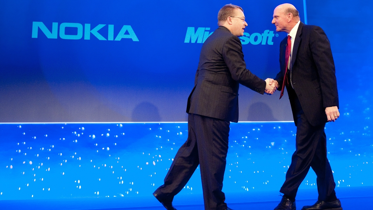 Stephen Elop et Steve Ballmer