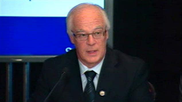 Robert Dutil, ministre de la Sécurité publique du Québec, le 18 février 2011