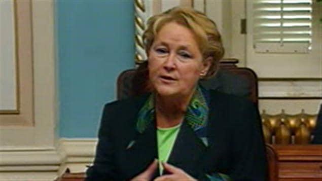 Pauline Marois a accusé le gouvernement de mauvaise foi.