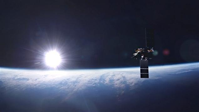 Une représentation du satellite Glory en orbite