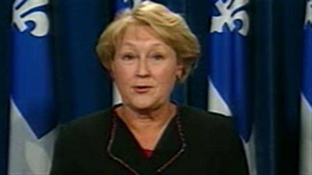 Pauline Marois, chef du Parti québécois (PQ)