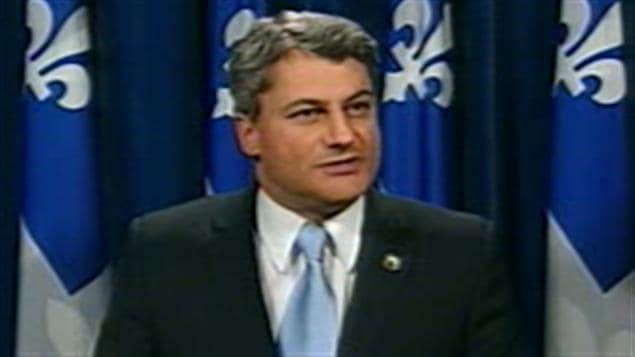 Gérard Deltell, chef de l'Action démocratique du Québec (ADQ)