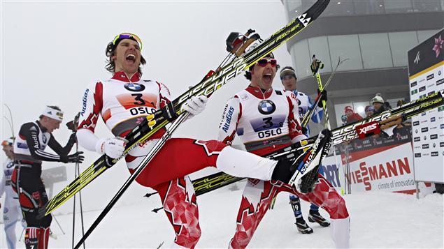 Devon Kershaw et Alex Harvey, euphoriques après leur victoire