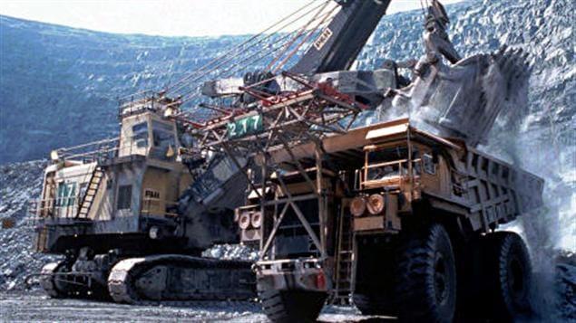 Une mine à ciel ouvert