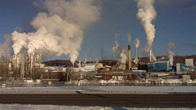 L'usine de Tembec à Temiscaming