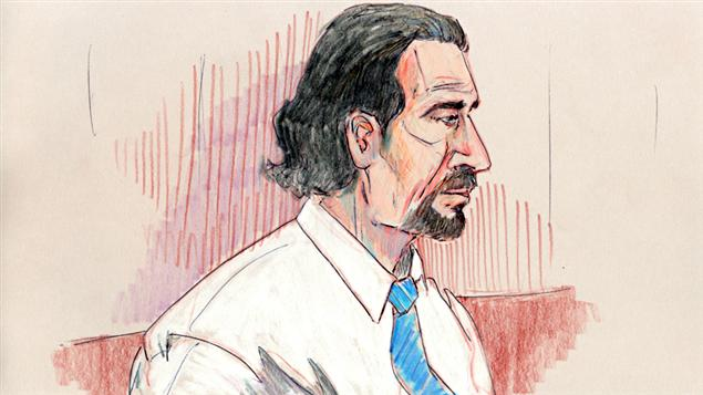 Le terroriste présumé Sayfildin Tahir Sharif au tribunal d'Edmonton (archives).