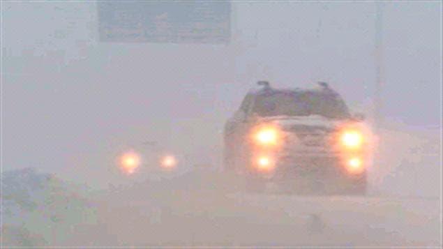 La visibilité était presque nulle ce matin sur les routes de la région.