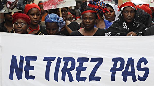 Des femmes manifestent à Abidjan, à l'occasion de la Journée internationale de la femme.