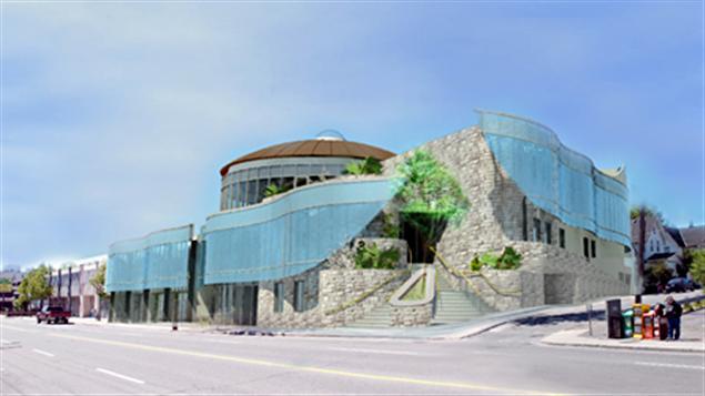 L'architecte Douglas Cardinal et son fils Bret ont dessiné les plans d'agrandissement du centre Wabano.