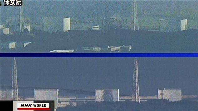 Des images de la chaîne NHK montre le réacteur