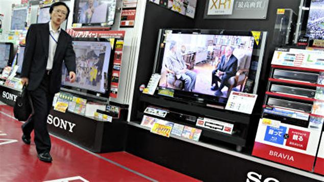Des téléviseurs fabriqués par Sony en vente dans un magasin japonais.