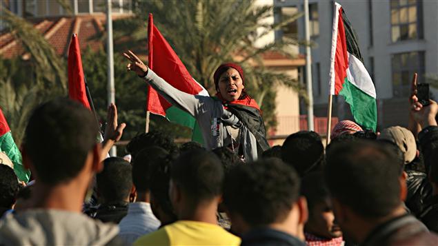 Une manifestation pour l'unité à Gaza