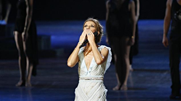 Céline Dion, lors de la dernière représentation de son spectacle A New Day à Las Vegas, le 15 décembre 2007.