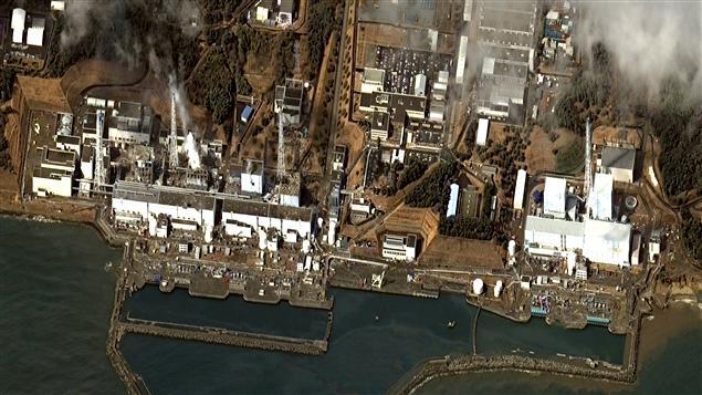 Image satellite de la centrale Fukushima Daiichi, 16 mars