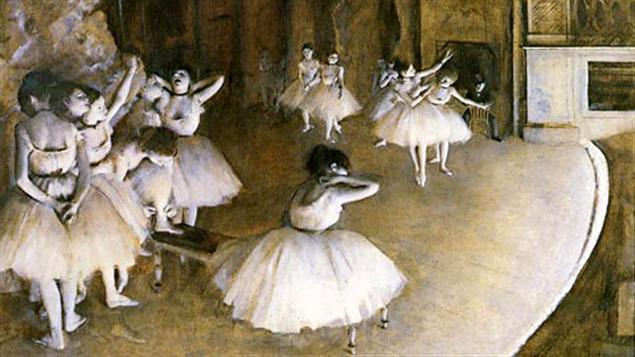 La répétition de ballet