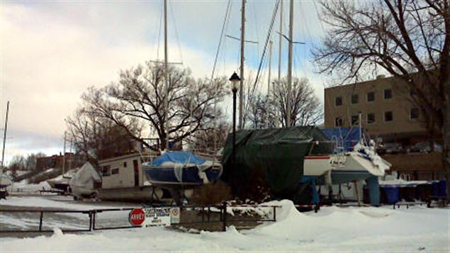 Marina de Ville-Marie en hiver