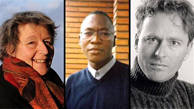 Les lauréats des prix littéraires de Radio-Canada 2011 : Monique Letarte, Isidore Guy Makaya et Alain-Bernard Marchand