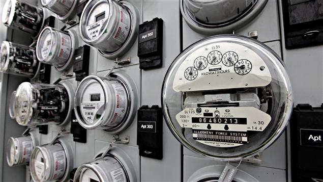 Des compteurs d'électricité.