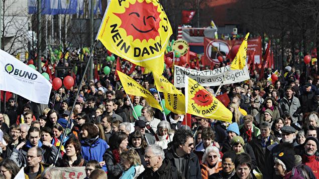 Manifestation contre le nucléaire à Berlin, le 26 mars 2011.