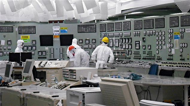 La salle de contrôle du réacteur 2 de la centrale nucléaire de Fukushima