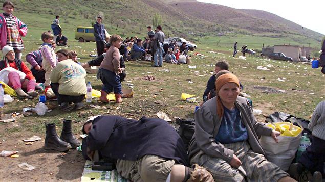 Réfugiés albanais (archives)