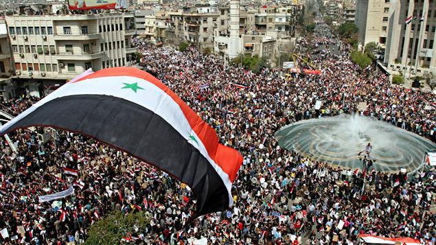 Manifestation pro-régime à Damas