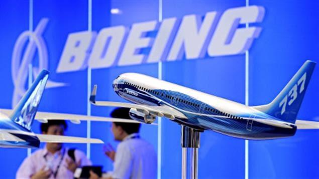 Modèle du prochain Boeing 737, présenté au Salon de l'aéronautique de Singapour.