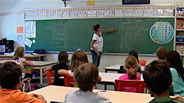 Une classe d'école