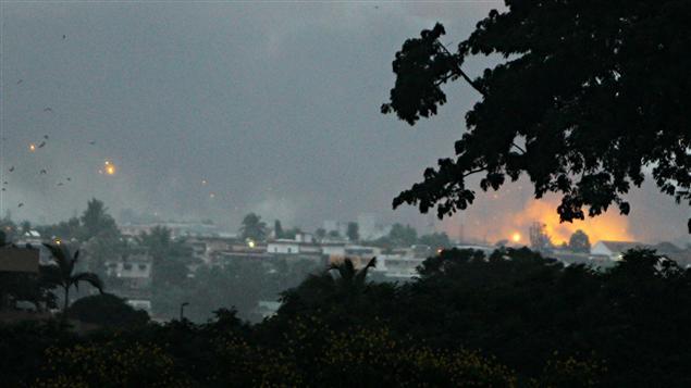 Les bombardements à Abidjan