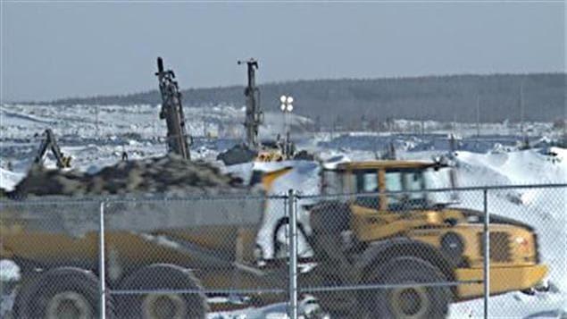 La mine à ciel ouvert d'Osisko à Malartic