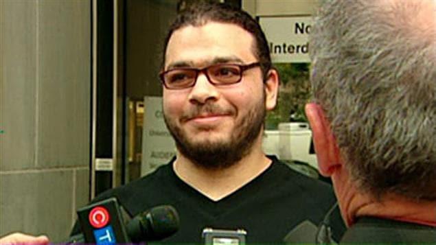 Abdullah Khadr à la suite de sa libération le 4 août 2010.