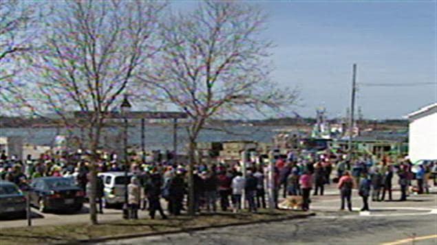 Manifestation à Yarmouth