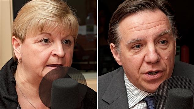 Lorraine Pagé et François Legault