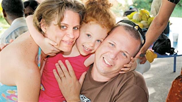 Sophie et David Barlagne et leur fille Rachel