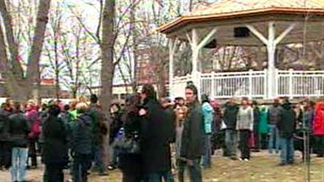 La marche contre l'intimidation à l'école et sur Internet organisée à Sorel-Tracy.