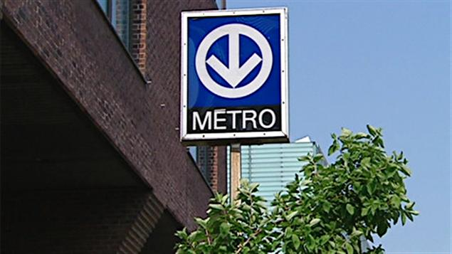 Une entrée du métro de Montréal