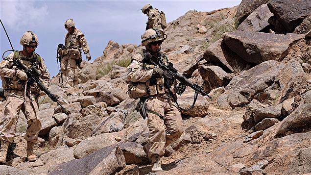 Des militaires canadiens en Afghanistan