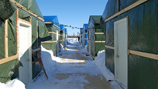Camp utilisé par KWG dans le Cercle de feu