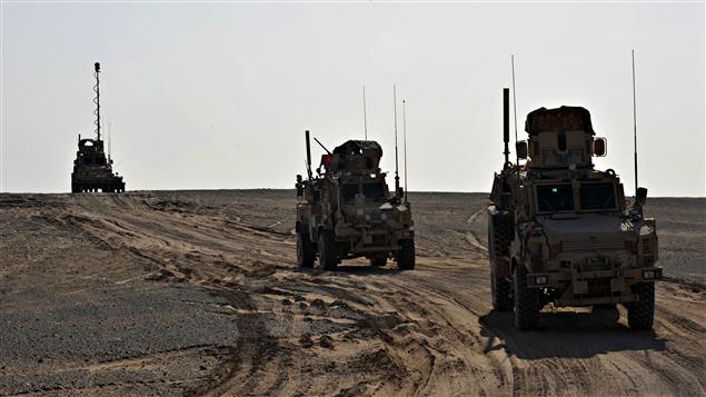 Patrouille militaire américaine en Afghanistan